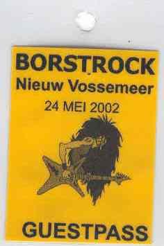 Uriah Heep - Borstrock - 2002 - guestpass